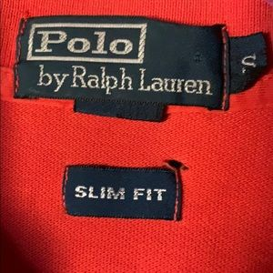 Polo by Ralph Lauren, Orange with blue polo player